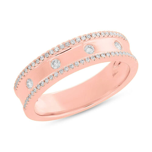 0.23ct 14k Rose Gold Diamond Ladys Ring SC55004098V3 500x500 - 0.23ct 14k Rose Gold Diamond Lady's Ring SC55004098V3