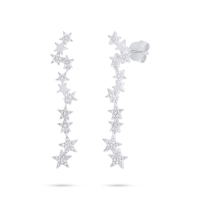 0.23ct 14k White Gold Diamond Star Earring SC55006511 400x400 - 0.23ct 14k White Gold Diamond Star Earring SC55006511