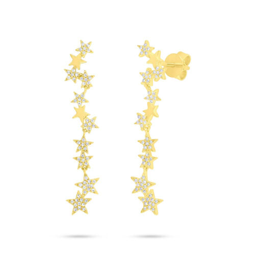 0.23ct 14k Yellow Gold Diamond Star Earring SC55006512 500x500 - 0.23ct 14k Yellow Gold Diamond Star Earring SC55006512