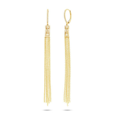 0.24ct 14k Yellow Gold Diamond Fringe Earring SC55003413 400x400 - 0.24ct 14k Yellow Gold Diamond Fringe Earring SC55003413