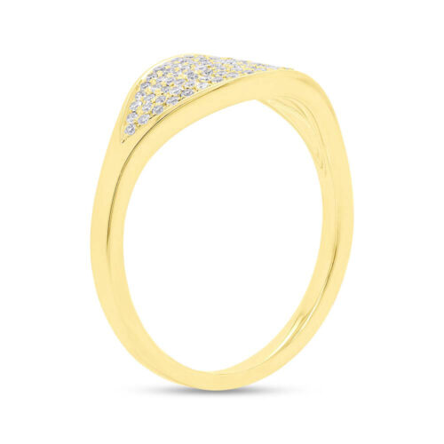 0.24ct 14k Yellow Gold Diamond Pave Ladys Ring SC55006900 2 500x500 - 0.24ct 14k Yellow Gold Diamond Pave Lady's Ring SC55006900