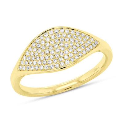 0.24ct 14k Yellow Gold Diamond Pave Ladys Ring SC55006900 400x400 - 0.24ct 14k Yellow Gold Diamond Pave Lady's Ring SC55006900