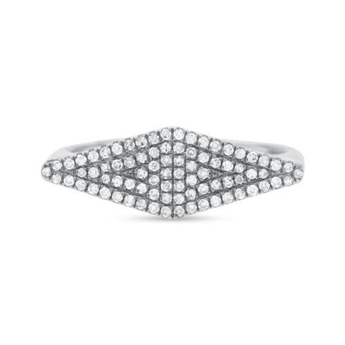 0.25CT 14K White Gold Diamond Pave Ladys Ring SC55001362 1 500x500 - 0.25CT 14K White Gold Diamond Pave Lady's Ring SC55001362