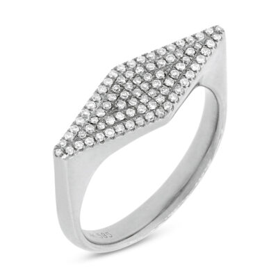 0.25CT 14K White Gold Diamond Pave Ladys Ring SC55001362 400x400 - 0.25CT 14K White Gold Diamond Pave Lady's Ring SC55001362