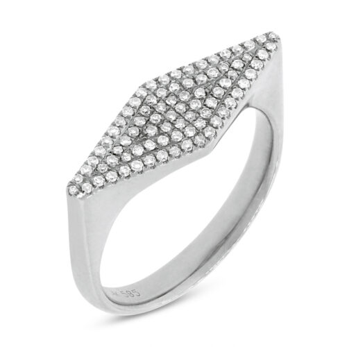 0.25CT 14K White Gold Diamond Pave Ladys Ring SC55001362 500x500 - 0.25CT 14K White Gold Diamond Pave Lady's Ring SC55001362