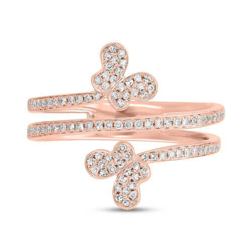0.25ct 14k Rose Gold Diamond Butterfly Ring SC55005311 1 500x500 - 0.25ct 14k Rose Gold Diamond Butterfly Ring SC55005311