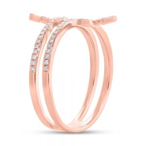 0.25ct 14k Rose Gold Diamond Butterfly Ring SC55005311 2 300x300 - 0.25ct 14k Rose Gold Diamond Butterfly Ring SC55005311 2