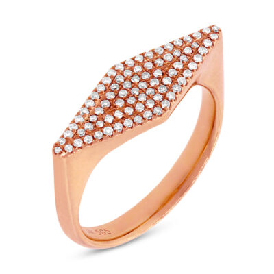 0.25ct 14k Rose Gold Diamond Pave Ladys Ring SC55001363 400x400 - 0.25ct 14k Rose Gold Diamond Pave Lady's Ring SC55001363
