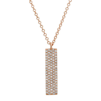 0.25ct 14k Rose Gold Diamond Pave Pendant SC55001721 400x400 - 0.25ct 14k Rose Gold Diamond Pave Pendant SC55001721