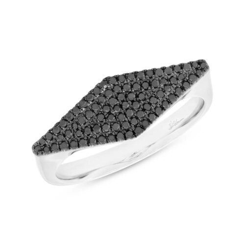 0.25ct 14k White Gold Black Diamond Pave Ladys Ring SC55003026 500x500 - 0.25ct 14k White Gold Black Diamond Pave Lady's Ring SC55003026