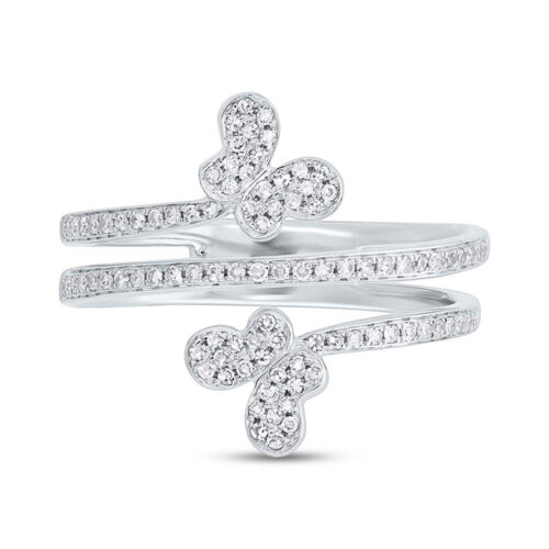 0.25ct 14k White Gold Diamond Butterfly Ring SC55005309 1 500x500 - 0.25ct 14k White Gold Diamond Butterfly Ring SC55005309