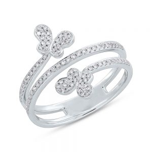 0.25ct 14k White Gold Diamond Butterfly Ring SC55005309 300x300 - 0.25ct 14k White Gold Diamond Butterfly Ring SC55005309