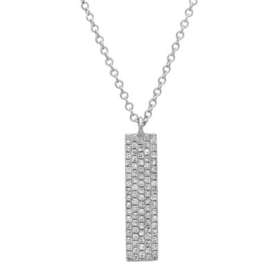0.25ct 14k White Gold Diamond Pave Pendant SC55001719 400x400 - 0.25ct 14k White Gold Diamond Pave Pendant SC55001719