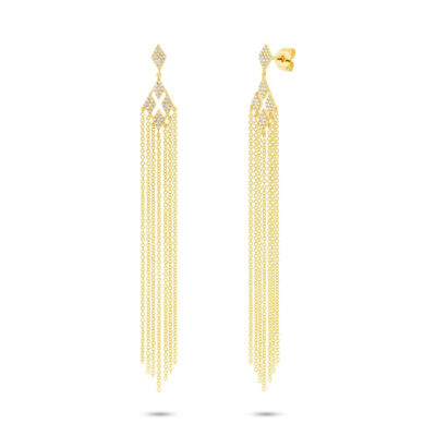 0.25ct 14k Yellow Gold Diamond Fringe Earring SC55003106 400x400 - 0.25ct 14k Yellow Gold Diamond Fringe Earring SC55003106