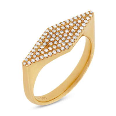0.25ct 14k Yellow Gold Diamond Pave Ladys Ring SC55001311 400x400 - 0.25ct 14k Yellow Gold Diamond Pave Lady's Ring SC55001311