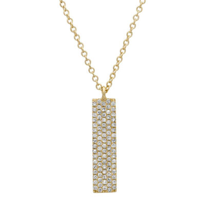0.25ct 14k Yellow Gold Diamond Pave Pendant SC55001720 400x400 - 0.25ct 14k Yellow Gold Diamond Pave Pendant SC55001720