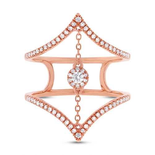 0.26ct 14k Rose Gold Diamond Ladys Ring SC55001808 1 500x500 - 0.26ct 14k Rose Gold Diamond Lady's Ring SC55001808