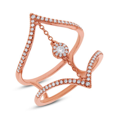 0.26ct 14k Rose Gold Diamond Ladys Ring SC55001808 400x400 - 0.26ct 14k Rose Gold Diamond Lady's Ring SC55001808