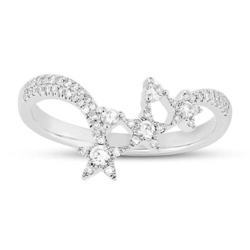 0.26ct 14k White Gold Diamond Star Ring SC55004956 1 500x500 - 0.26ct 14k White Gold Diamond Star Ring SC55004956