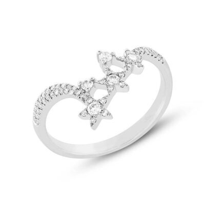 0.26ct 14k White Gold Diamond Star Ring SC55004956 400x400 - 0.26ct 14k White Gold Diamond Star Ring SC55004956