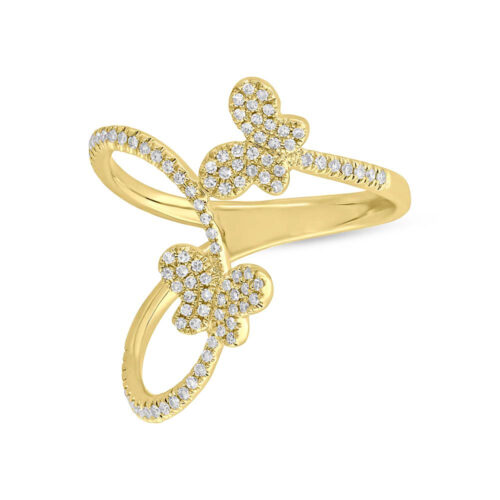 0.26ct 14k Yellow Gold Diamond Butterfly Ring SC55005313 1 500x500 - 0.26ct 14k Yellow Gold Diamond Butterfly Ring SC55005313