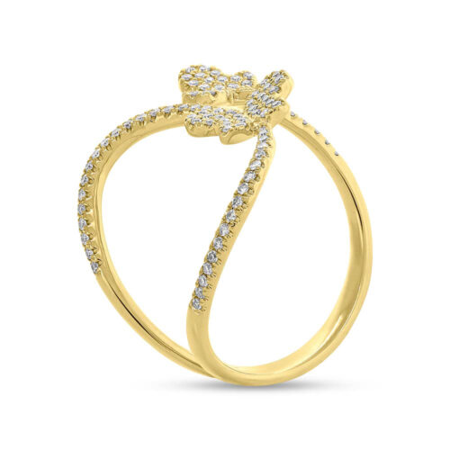 0.26ct 14k Yellow Gold Diamond Butterfly Ring SC55005313 2 500x500 - 0.26ct 14k Yellow Gold Diamond Butterfly Ring SC55005313