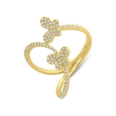 0.26ct 14k Yellow Gold Diamond Butterfly Ring SC55005313 400x400 - 0.26ct 14k Yellow Gold Diamond Butterfly Ring SC55005313