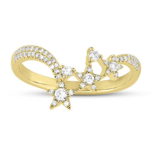 0.26ct 14k Yellow Gold Diamond Star Ring SC55004957 1 500x500 - 0.26ct 14k Yellow Gold Diamond Star Ring SC55004957