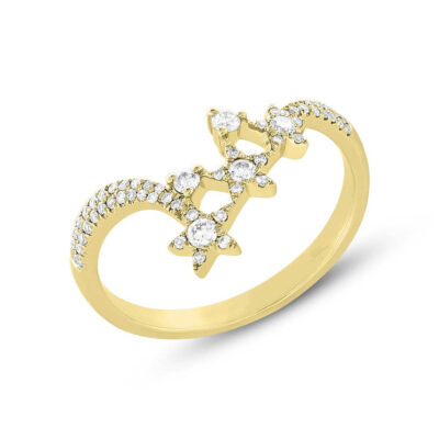 0.26ct 14k Yellow Gold Diamond Star Ring SC55004957 400x400 - 0.26ct 14k Yellow Gold Diamond Star Ring SC55004957