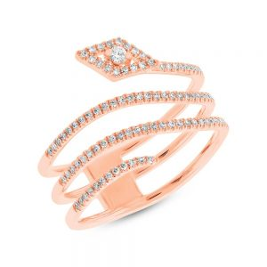 0.28ct 14k Rose Gold Diamond Ladys Ring SC55004253 300x300 - 0.28ct 14k Rose Gold Diamond Lady's Ring SC55004253