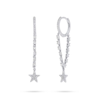 0.28ct 14k White Gold Diamond Star Earring SC55006708 400x400 - 0.28ct 14k White Gold Diamond Star Earring SC55006708
