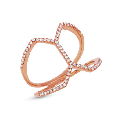 0.29ct 14k Rose Gold Diamond Ladys Ring SC55001234 400x400 - 0.29ct 14k Rose Gold Diamond Lady's Ring SC55001234