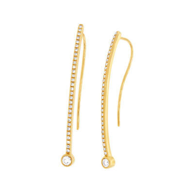 0.29ct 14k Yellow Gold Diamond Earring SC55002171 400x400 - 0.29ct 14k Yellow Gold Diamond Earring SC55002171