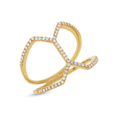 0.29ct 14k Yellow Gold Diamond Ladys Ring SC55001224 400x400 - 0.29ct 14k Yellow Gold Diamond Lady's Ring SC55001224