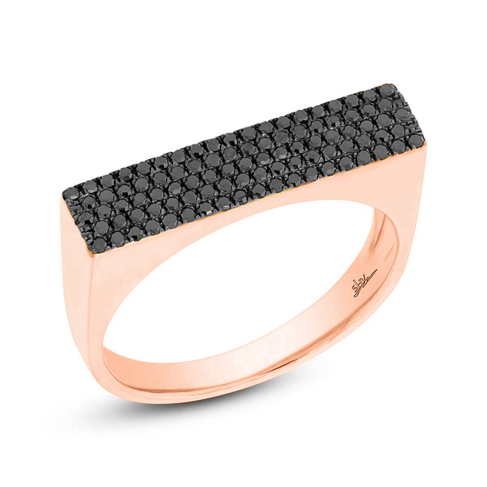 diamond jewellery hexagon studio ring rose gold point copy engagement products cut of halo black no a