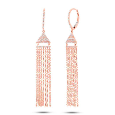 0.30ct 14k Rose Gold Diamond Fringe Earring SC55003408 400x400 - 0.30ct 14k Rose Gold Diamond Fringe Earring SC55003408