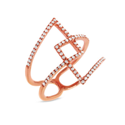 0.30ct 14k Rose Gold Diamond Ladys Ring SC22003359 400x400 - 0.30ct 14k Rose Gold Diamond Lady's Ring SC22003359