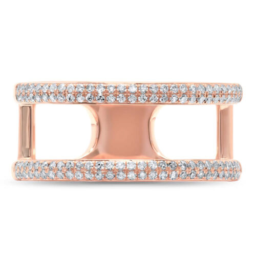 0.30ct 14k Rose Gold Diamond Ladys Ring SC55002847V2 1 500x500 - 0.30ct 14k Rose Gold Diamond Lady's Ring SC55002847V2