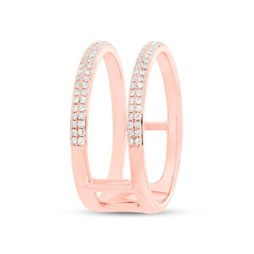 0.30ct 14k Rose Gold Diamond Ladys Ring SC55002847V2 2 500x500 - 0.30ct 14k Rose Gold Diamond Lady's Ring SC55002847V2