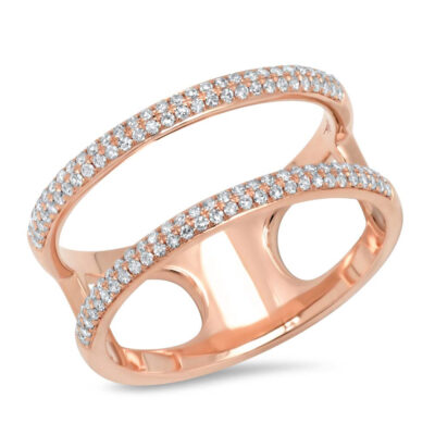 0.30ct 14k Rose Gold Diamond Ladys Ring SC55002847V2 400x400 - 0.30ct 14k Rose Gold Diamond Lady's Ring SC55002847V2