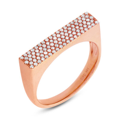 0.30ct 14k Rose Gold Diamond Pave Ladys Ring SC55001374 400x400 - 0.30ct 14k Rose Gold Diamond Pave Lady's Ring SC55001374