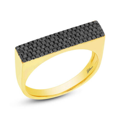 0.30ct 14k Yellow Gold Black Diamond Pave Ladys Ring SC55001873 400x400 - 0.30ct 14k Yellow Gold Black Diamond Pave Lady's Ring SC55001873