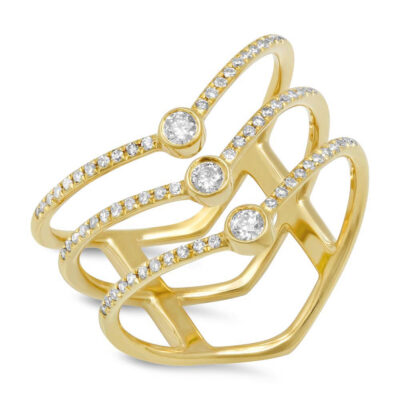 0.30ct 14k Yellow Gold Diamond Ladys Ring SC55001617V3 400x400 - 0.30ct 14k Yellow Gold Diamond Lady's Ring SC55001617V3