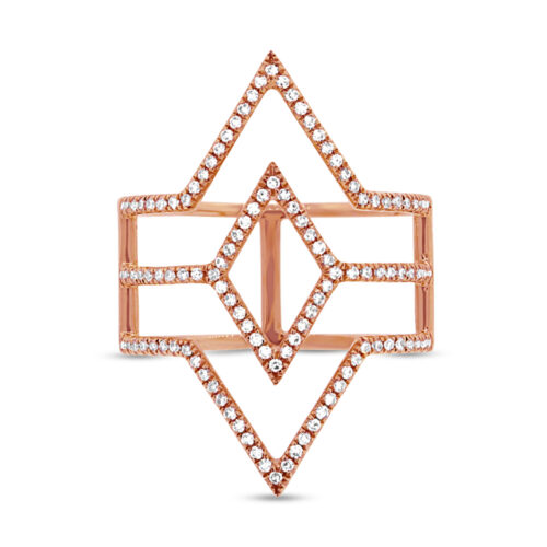 0.31ct 14k Rose Gold Diamond Ladys Ring SC55001596 1 500x500 - 0.31ct 14k Rose Gold Diamond Lady's Ring SC55001596