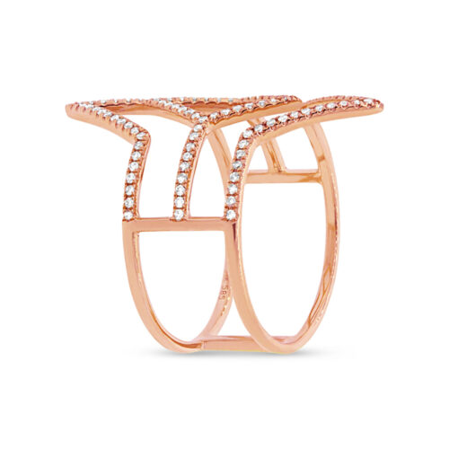 0.31ct 14k Rose Gold Diamond Ladys Ring SC55001596 2 500x500 - 0.31ct 14k Rose Gold Diamond Lady's Ring SC55001596