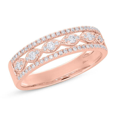 0.31ct 14k Rose Gold Diamond Ladys Ring SC55005604 400x400 - 0.31ct 14k Rose Gold Diamond Lady's Ring SC55005604