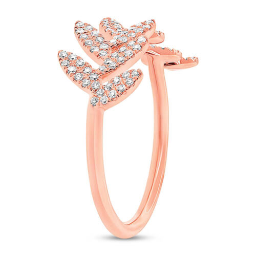 0.31ct 14k Rose Gold Diamond Leaf Ladys Ring SC55003291 2 500x500 - 0.31ct 14k Rose Gold Diamond Leaf Lady's Ring SC55003291