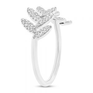0.31ct 14k White Gold Diamond Leaf Ladys Ring SC55003289 2 300x300 - Dallas engagement ring stores - for a beautiful relationship