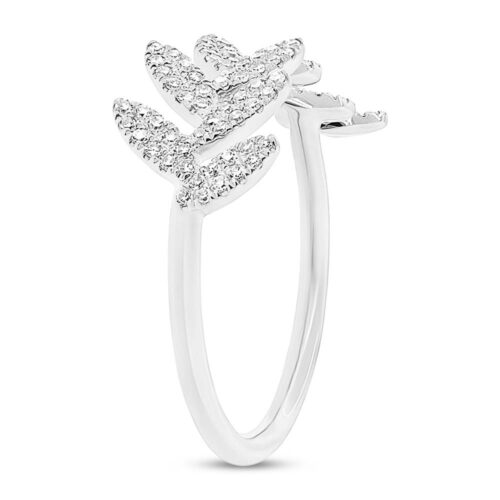 0.31ct 14k White Gold Diamond Leaf Ladys Ring SC55003289 2 500x500 - 0.31ct 14k White Gold Diamond Leaf Lady's Ring SC55003289