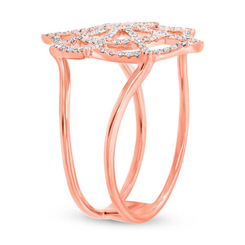 0.32ct 14k Rose Gold Diamond Spider Web Ring SC55002859 2 500x500 - 0.32ct 14k Rose Gold Diamond Spider Web Ring SC55002859